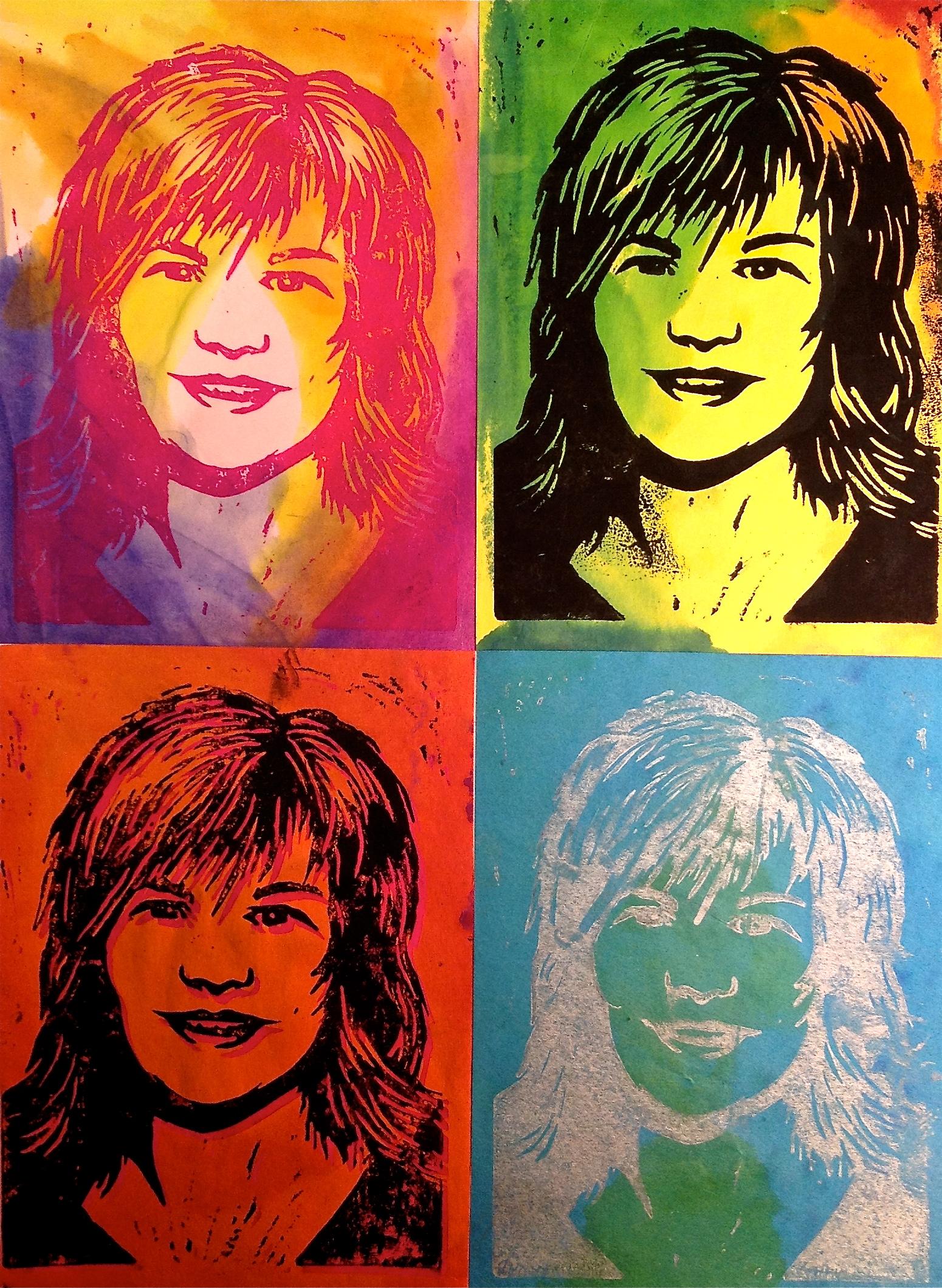 Pop Art Self-Portrait Warhol Printmaking Lesson - Create Art with ME