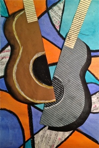 Abstract Guitar Mixed Media Lesson