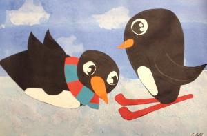 Penguin Cut Paper