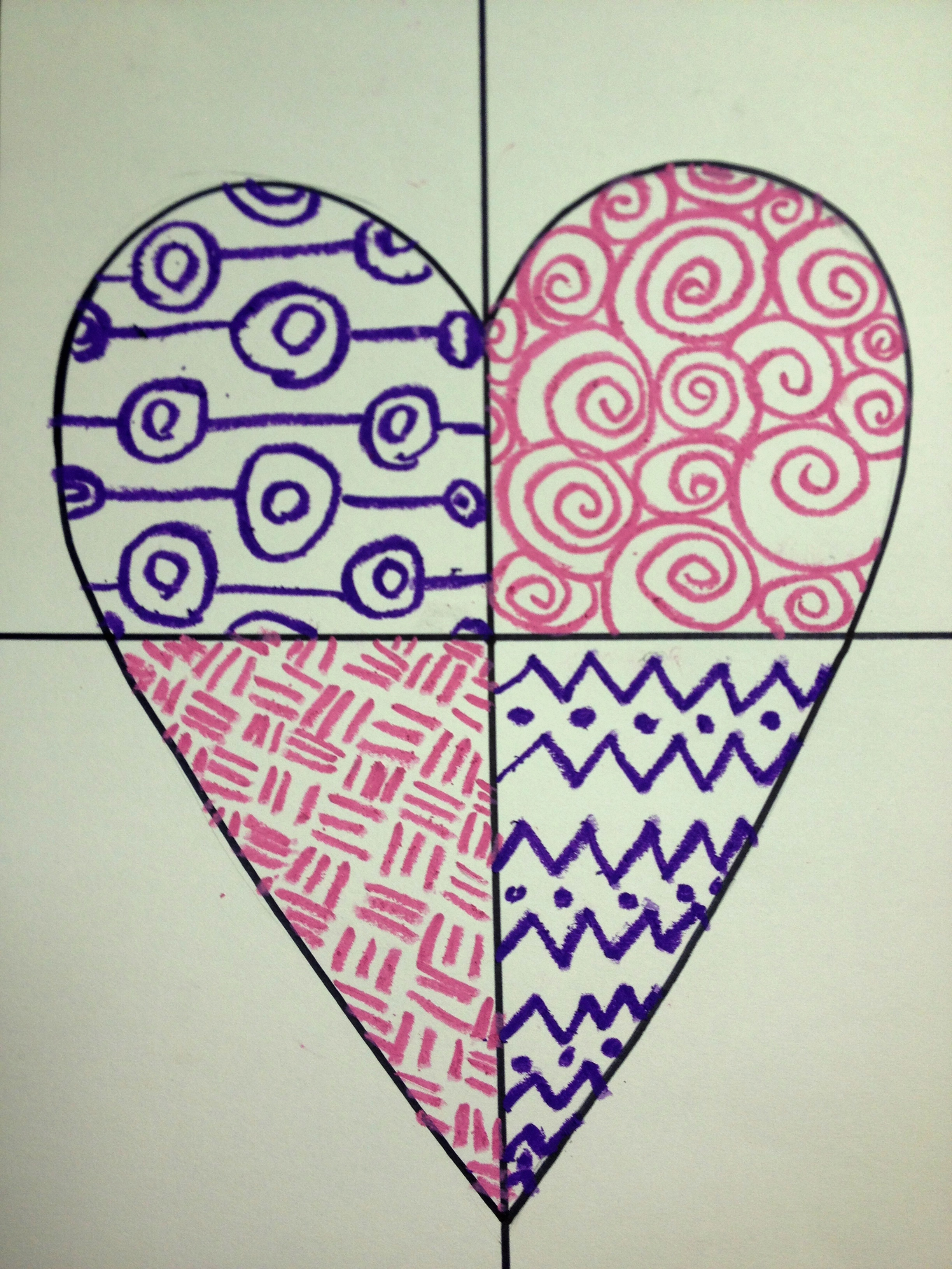 Cool Art Designs To Draw : Heart art mixed media lesson create with me
